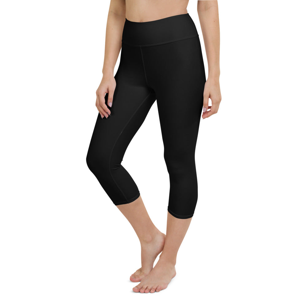 Yoga Capri Leggings Black
