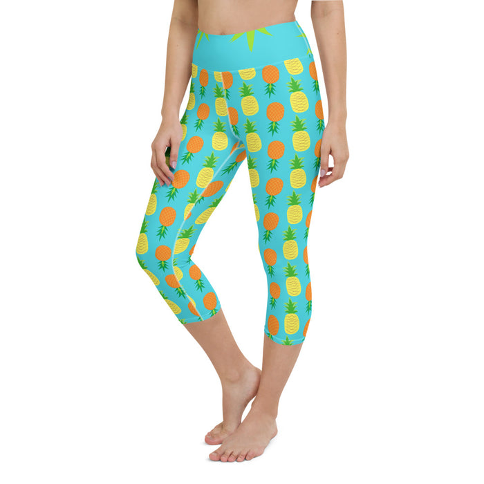 Yoga Capri Leggings Pineapple