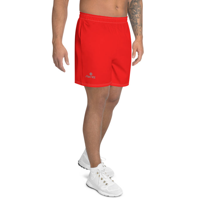 Men's Athletic Long Shorts Red