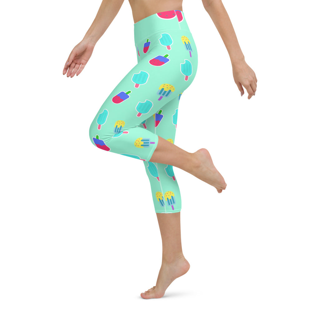 Yoga Capri Leggings Ice Cream