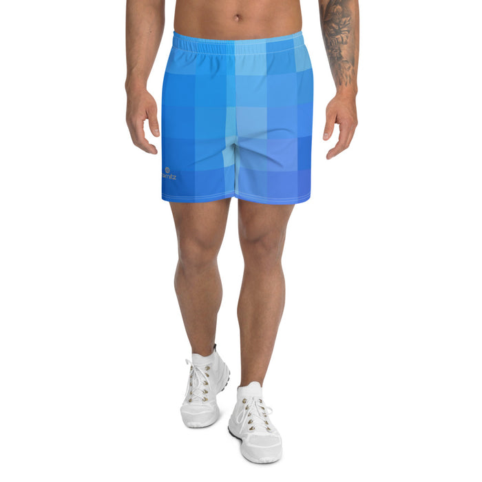 Men's Athletic Long Shorts Blue Light