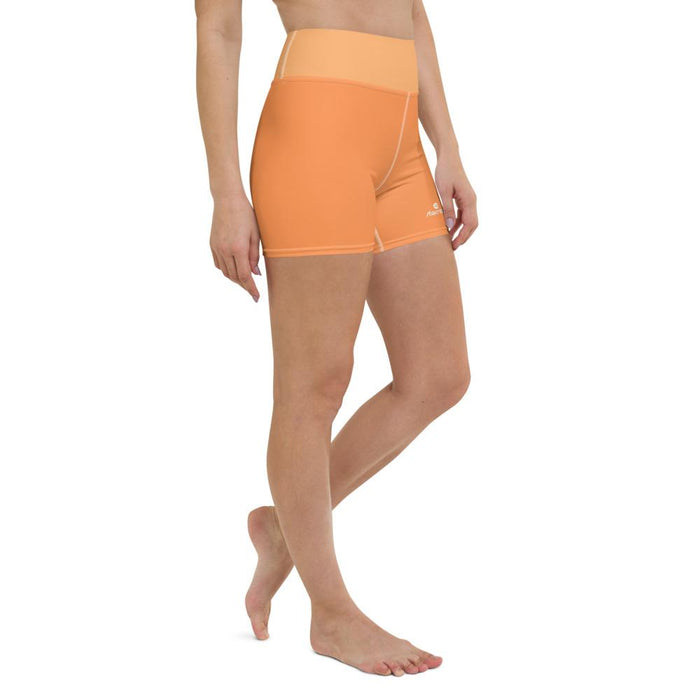Womens-Shorts-Orange-Running
