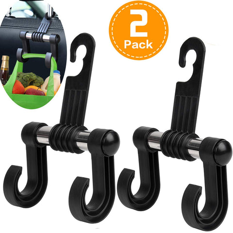 Double Hook Bag Holder (2 PACK)