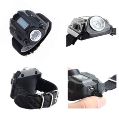 Flashlight Watch With Compass