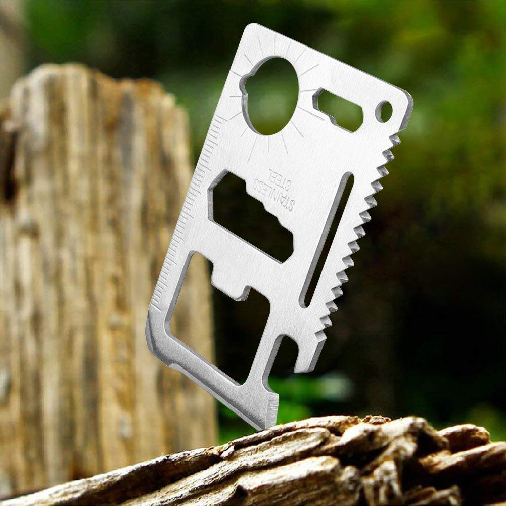 11 in 1 Multi Tool Credit Card Survival Tool (2 Pack)