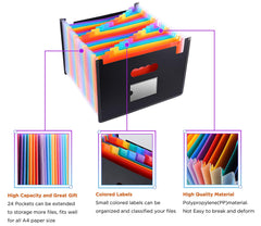 24 Pocket Expanding File Folder Organizer