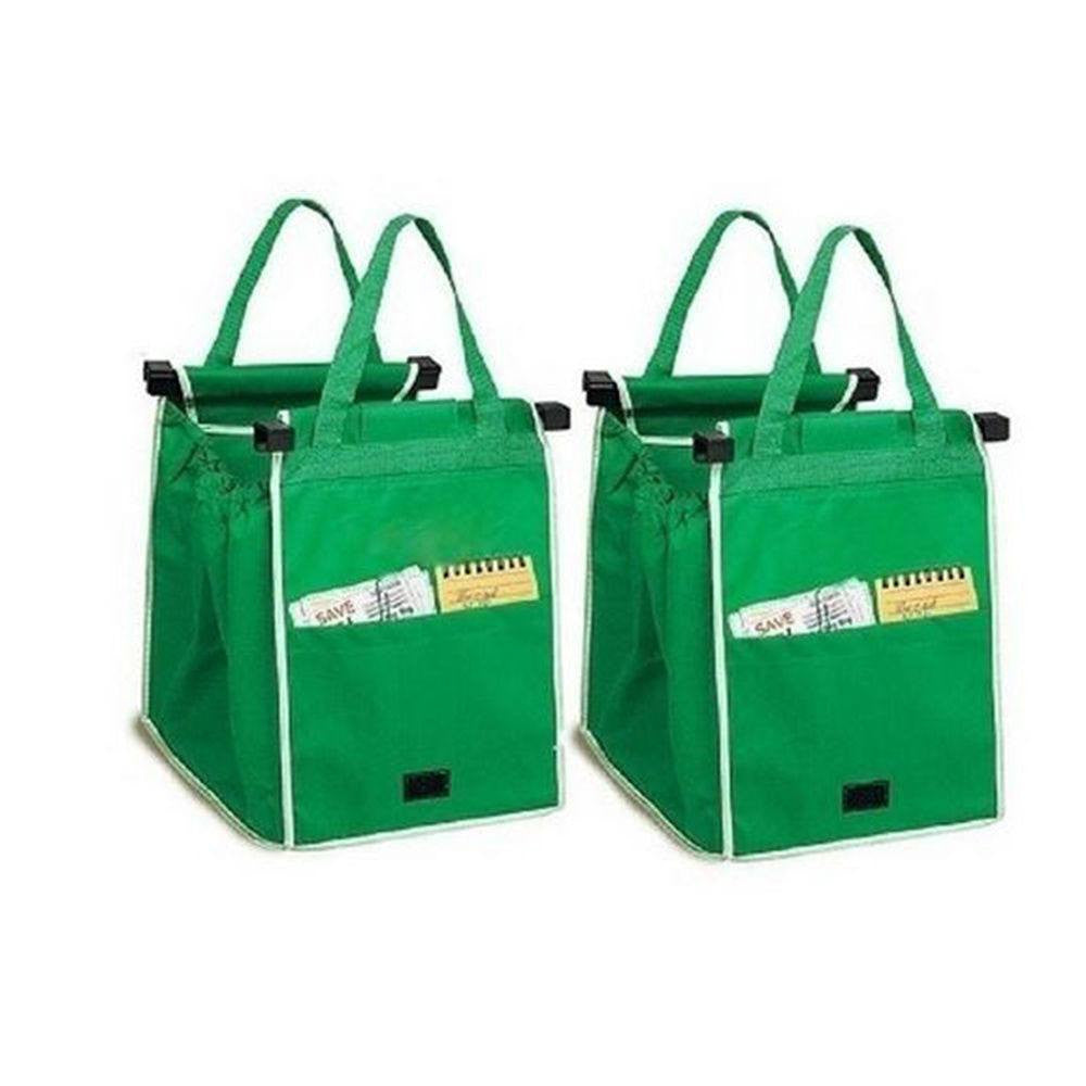 Grab Bag - Reusable Clip-To-Cart Shopping Bag ( set of 2 )