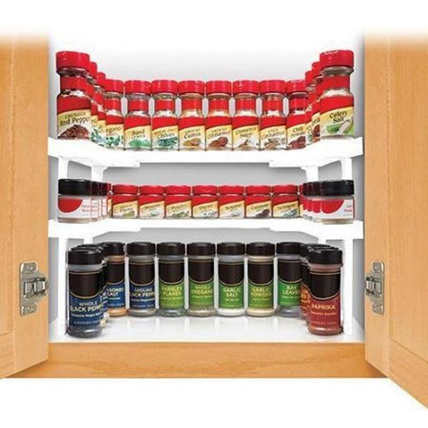 Kitchen Cabinet Spice Racks: Spice Rack And Stackable Shelf