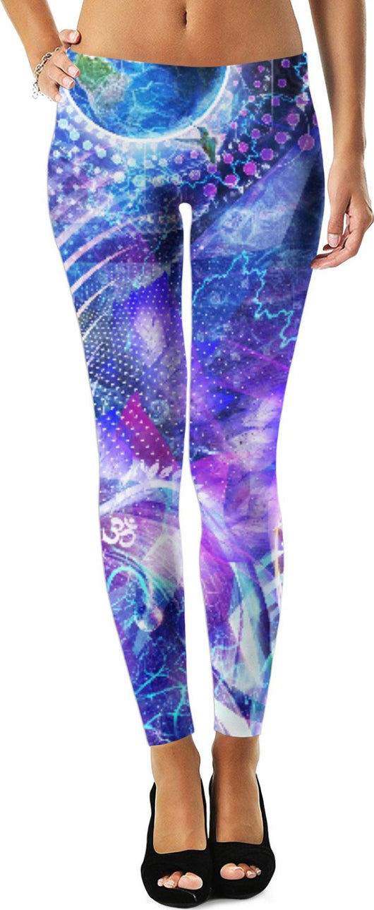 Cosmic Visionary Festival Leggings
