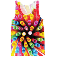 Colorful Straws Tank