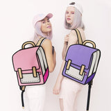 Pink 2D Cartoon Backpack