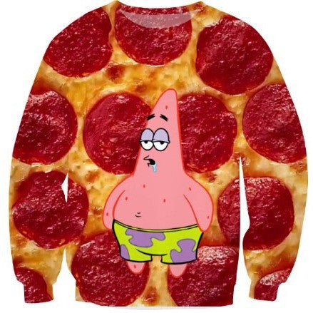 Patrick Star Pizza Sweater
