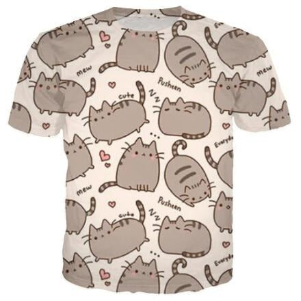 Pusheen Cat Tee
