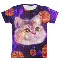 Heavy Breathing Cat T-Shirt 3D Print Pizza Space tshirt Women/Men Galaxy Kitten Tee Summer Hip Hop Tumblr Tops Outfits Oversize