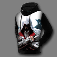 New Autumn Winter Warm Comfort 3d Hoodies Sweatshirt Men Fashion assassins creed Printed Hoodies Men Casual Slim Fit Sweatshirts