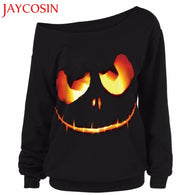 Women Halloween Pumpkin Devil Sweatshirt
