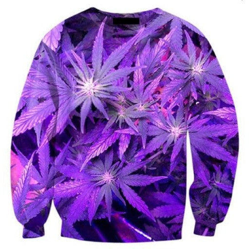 Purple Weed Sweater