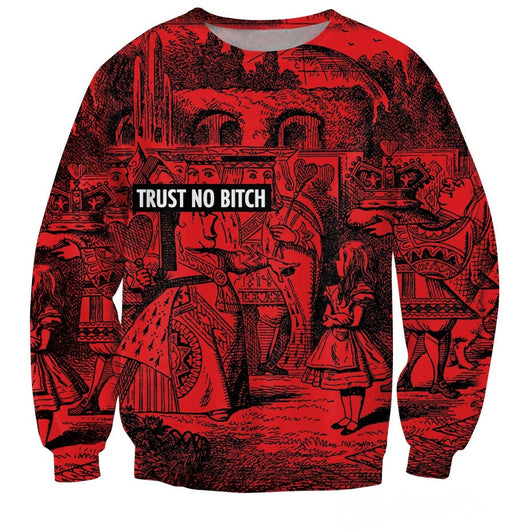 Trust No Bitch Queen of Hearts Sweater
