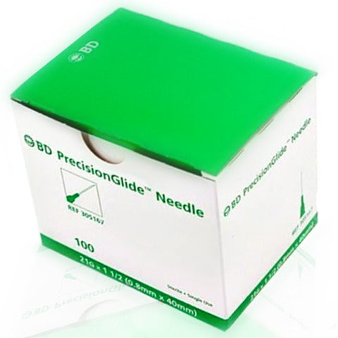 "BD Sterile Hypodermic Needles 21 X 1 1/2"" (50 Pack)"