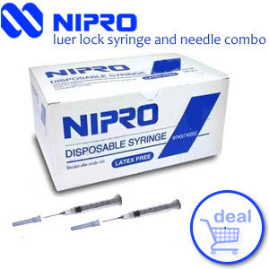Disposable Sterile Syringes (individually wrapped)