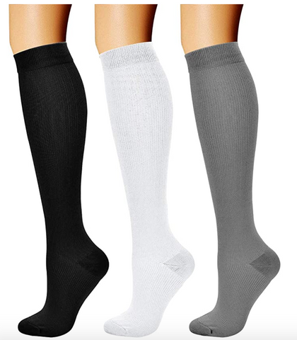Caring Compression Socks (3 Pairs) 15-20 mmHg LARGE-X-LARGE ONLY