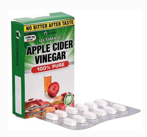Apple Cider Vinegar Capsules 250mg, Natural Fat Burner and Detoxifier