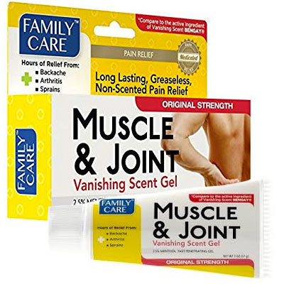Muscle and Joint Vanishing Scent Gel 2oz