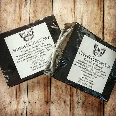 Activated Charcoal Soap (Unscented)! Made using All Natural and Organic Ingredients! Vegan Friendly!