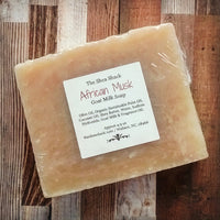 African Musk Handmade Soap! Made with Goat Milk! Has a Very Nice Unisex Scent!