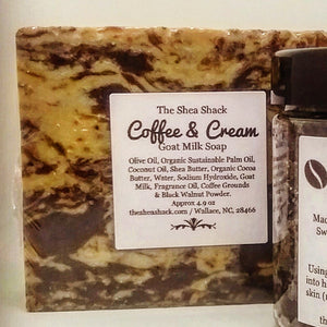 Coffee & Cream Soap or Coffee & Cream Soap & Coffee Sugar Scrub Gift Set!