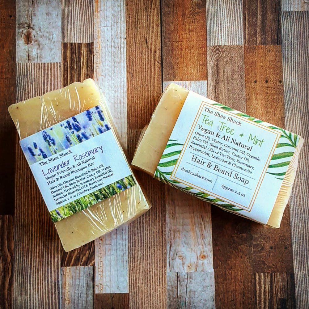 All Natural & Vegan Friendly Hair & Beard Shampoo Bars!