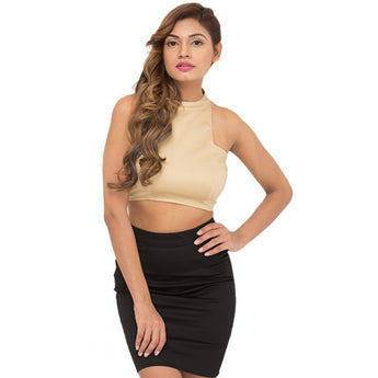 On The Rise Skirt Set (Tan)