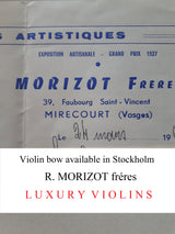 violin bow morizot french price