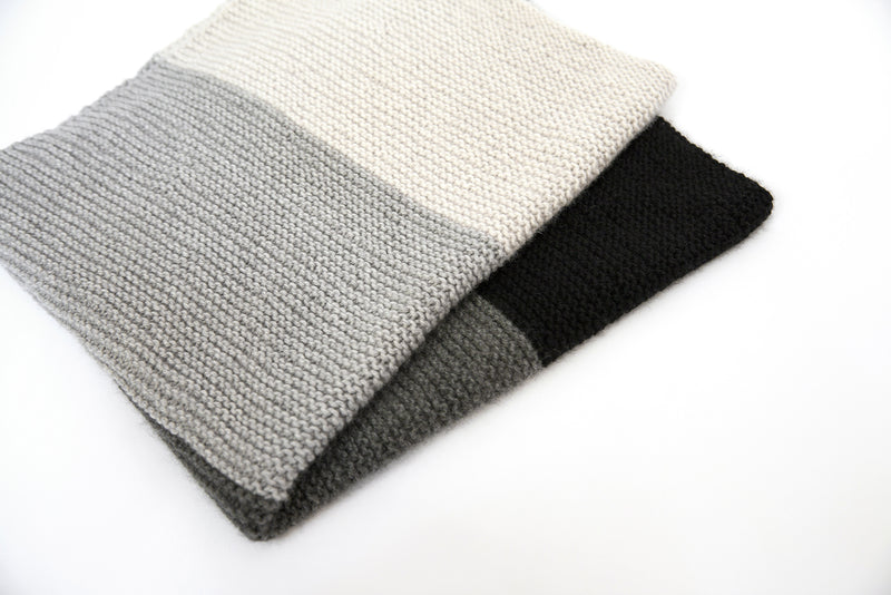 Clinton Hill Cashmere Bespoke Cashmere Yarn Kit- Four Play Blanket Knitting Kit- Worsted Weight Yarn