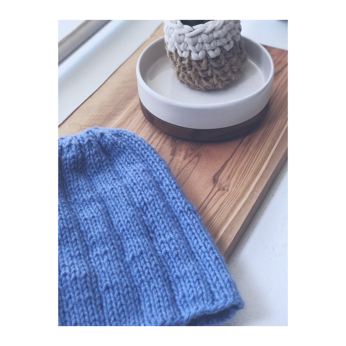 Clinton Hill Cashmere Bespoke Cashmere Free Pattern-Hat Not Hate- Lion Brand Free Knitting Kit- Worsted Weight Yarn