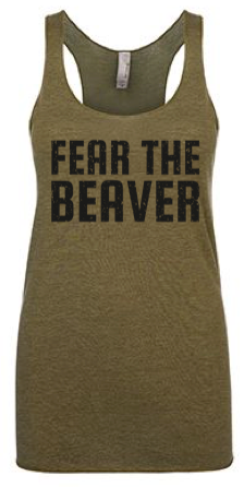 Fear the Beaver Ladies Racerback Tank