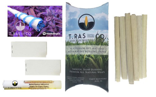 T.Ras Rolling Co. 8 Pack Rolling Paper Paper Alternative - T.Ras Rolling Co