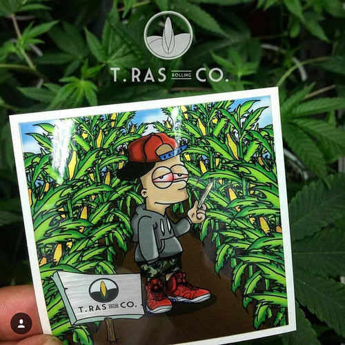 T.Ras Rolling Co. X WeKnowBudz Metallic Bart Sticker Pack