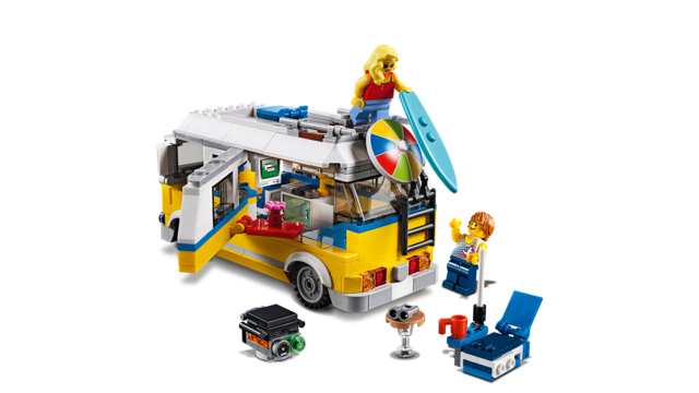 2018 LEGO Create sets 31079 sunshine surfer van