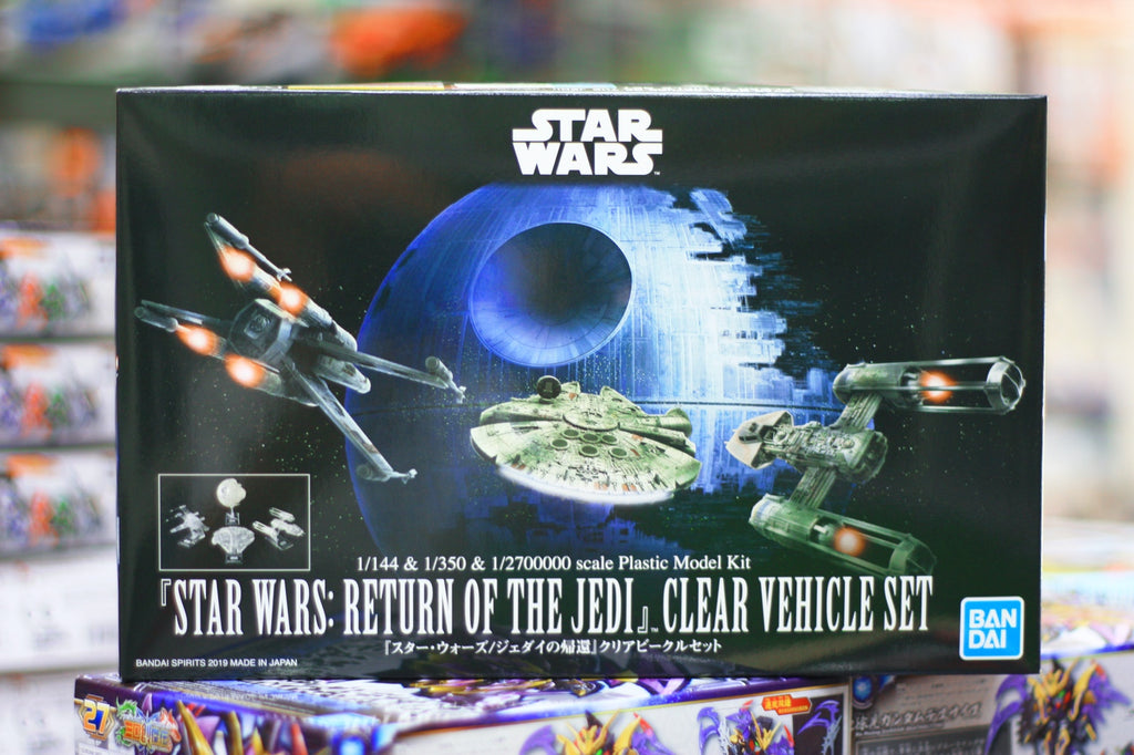 Star Wars Return of the Jedi clear vehicle set
