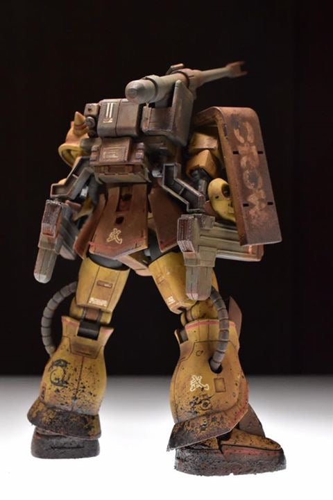 Bandai HG Zaku Half Cannon (The Origin)