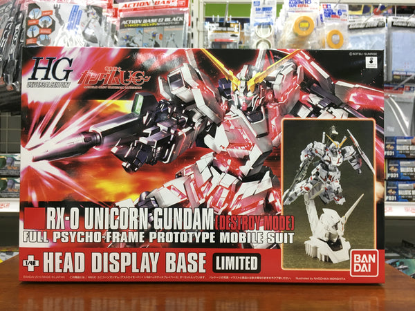 HGUC Unicorn Gundam Destroy Model + Head Display Base