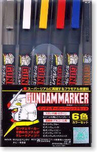 Gundam Marker Basic 6 Colors Set GMS105