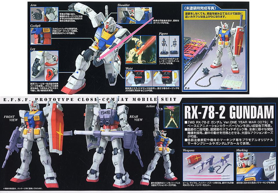 MG RX-78-2 Gundam Ver. O.Y.W 0079 Animetion Color
