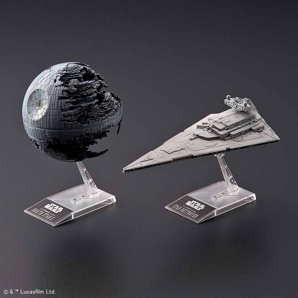 Bandai Star Wars model kit - 1/2700000 Death Star II & 1/14500 Star Destroyer