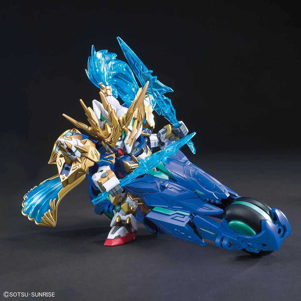 SD Sangoku Soketsuden Zhao Yun 00 Gundam and Blue Dragon Drive