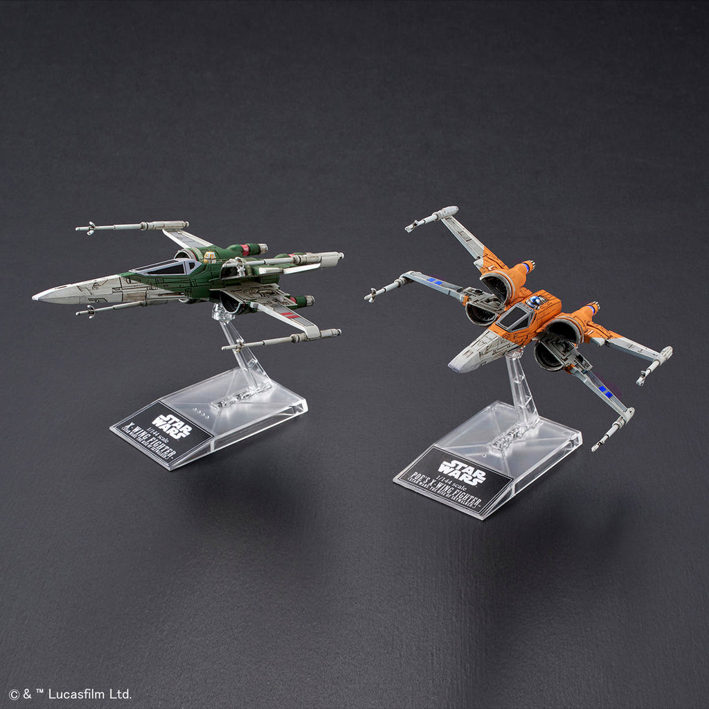 1/144 Poe's X-Wing Fighter & X-Wing Fighter (Star Wars:The Rise Of Skywalker)