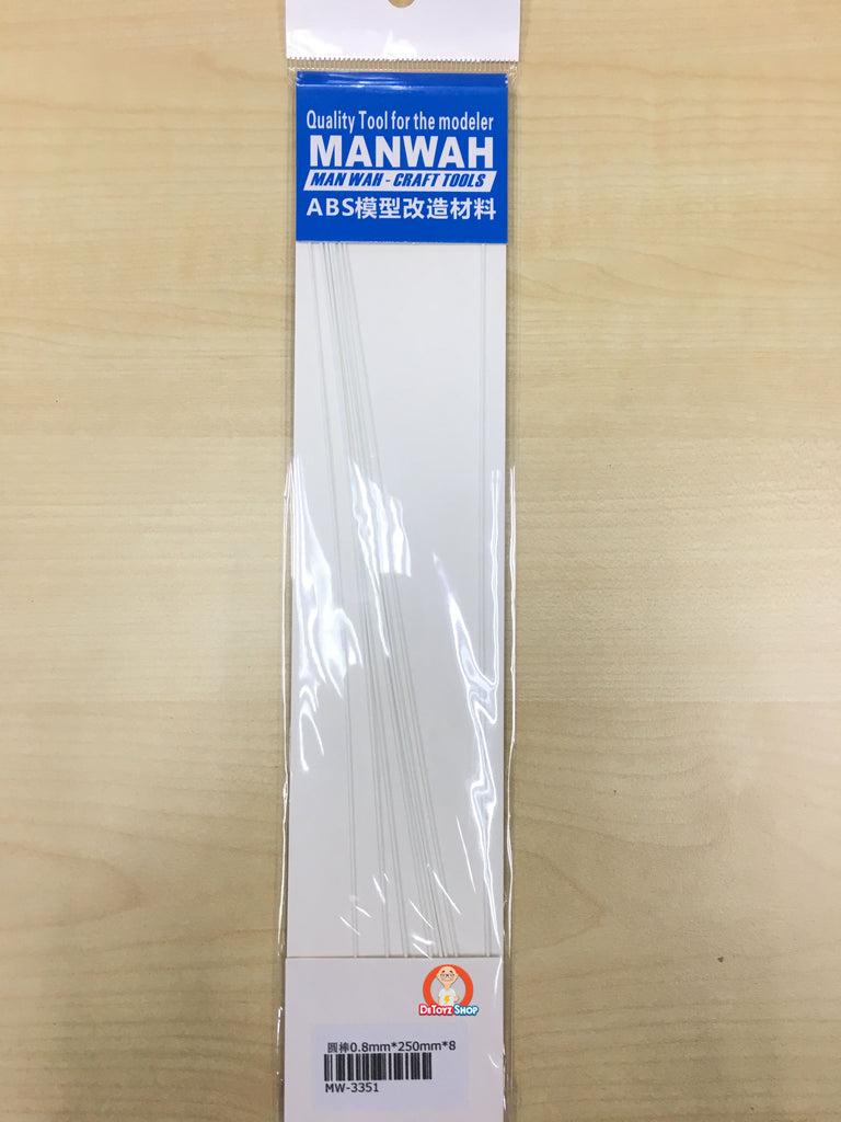 Manwah ABS Beam - Round White (0.8mm)