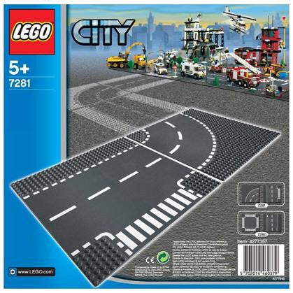 LEGO 7281 T-Junction & Curved Road Plates