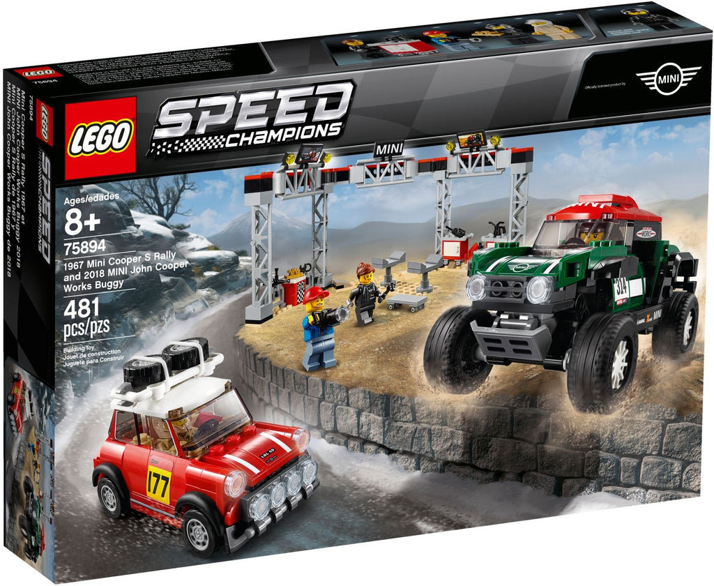 LEGO 75894 1967 Mini Cooper S Rally and 2018 MINI John Cooper Works Buggy